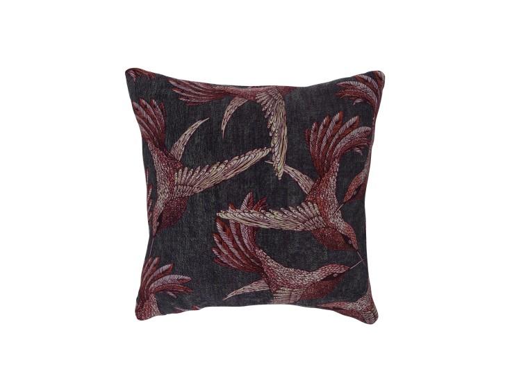 Paradise Bird Mulberry Cushion