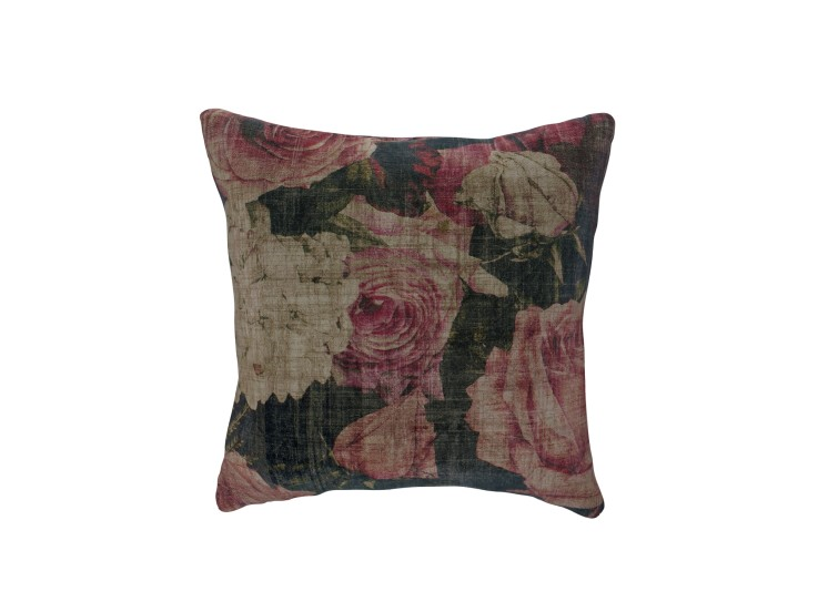 Midnight Garden Rose Cushion