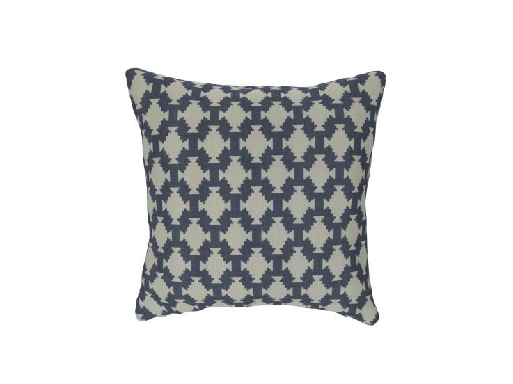 Tribal Tile Denim Cushion