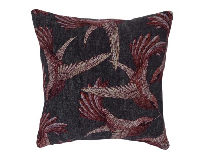 Small Cushion, Paradise Bird - Mulberry