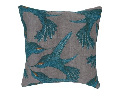 Small Cushion, Paradise Bird - Grey