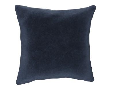 Large Cushion, Family Friendly Soft Velvet - African Sapphire