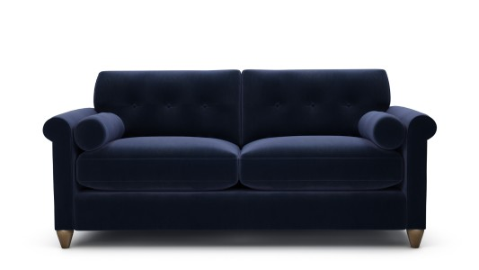 Phoebe, 3 Seater, Velvet Touch - Midnight Indigo