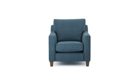 Zoe, Chair, Family Friendly Basket Weave - Juniper Berry