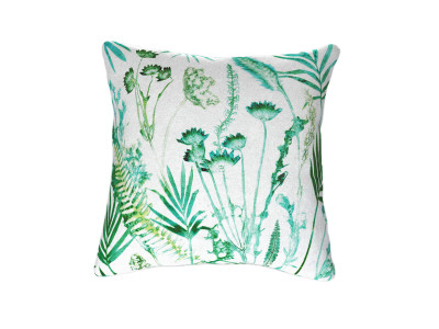 Botanical Teal Cushion Fabric