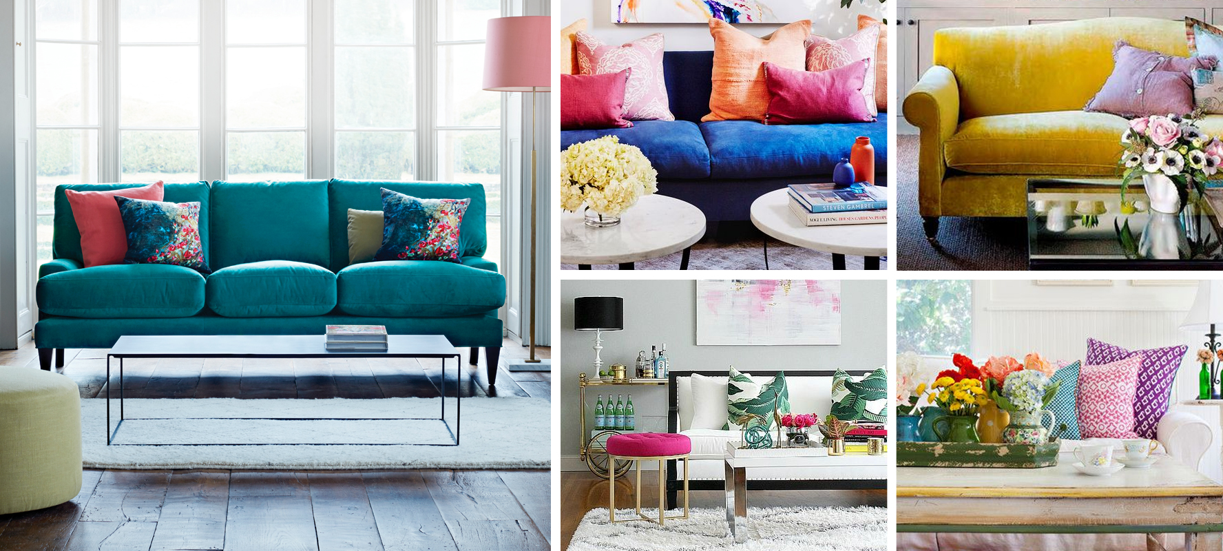 Bright Coloured Sofas