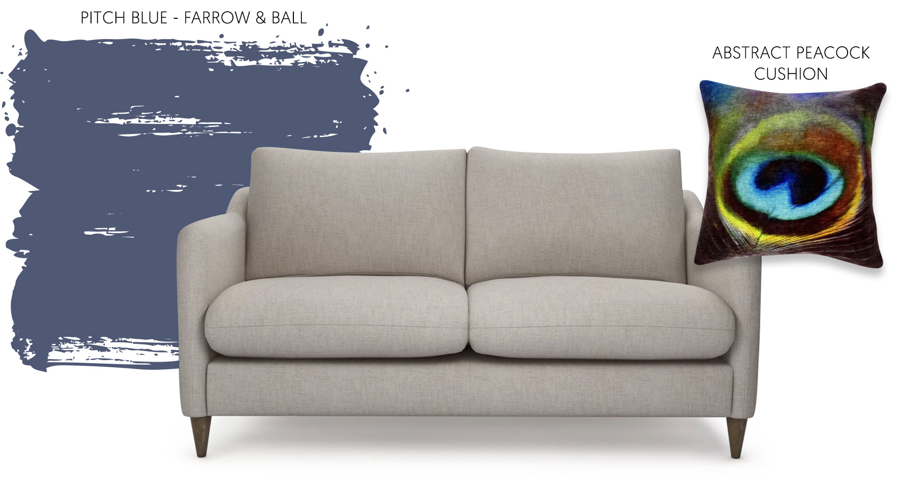 Accessorising a neutral sofa with Farrow & Ball paint