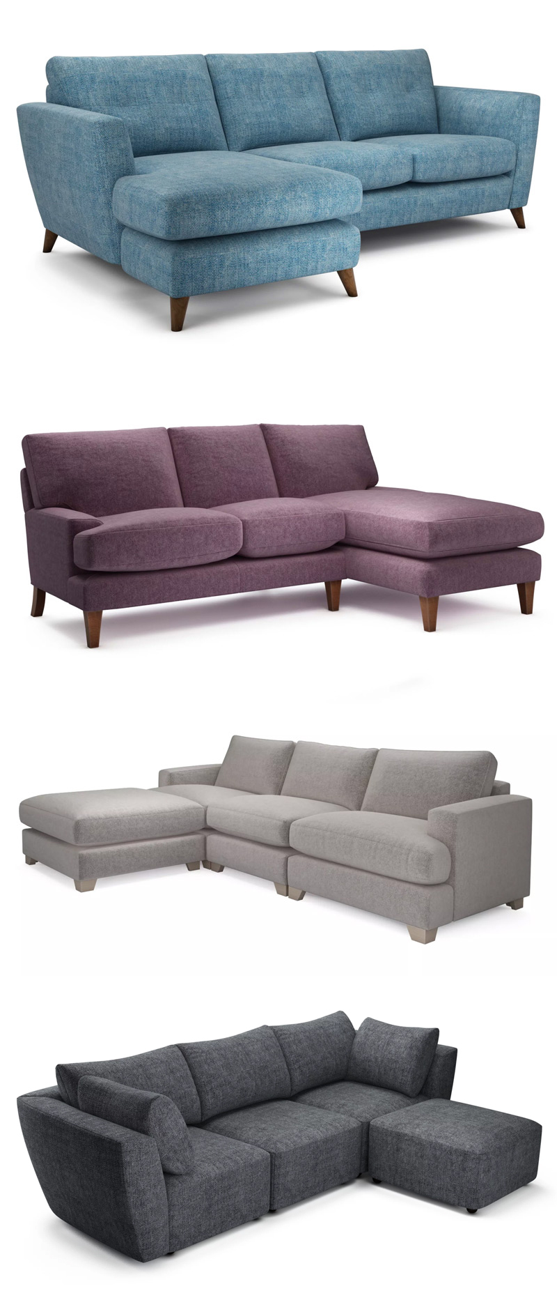 The Lounge Co. Chaise End Sofas