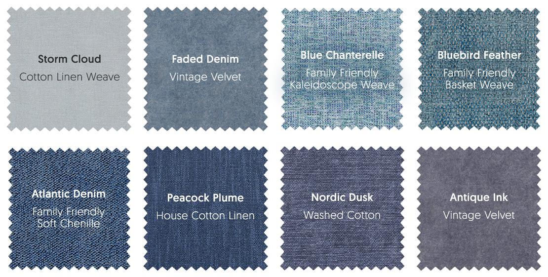 Blue Sofa Fabrics