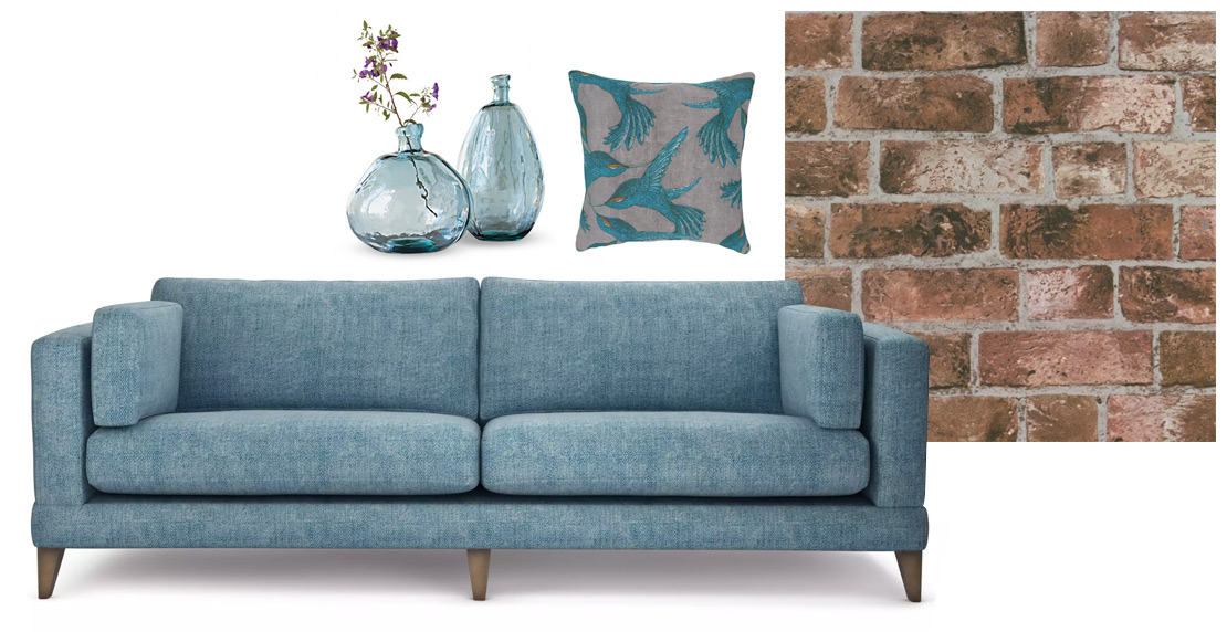 Mallory Blue Sofa