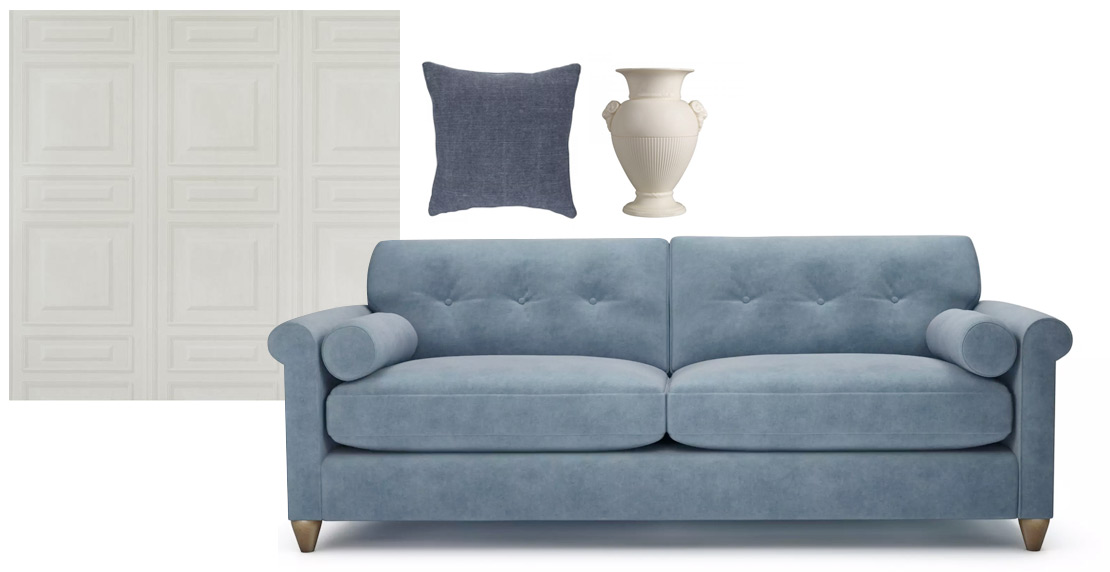 Phoebe Blue Sofa