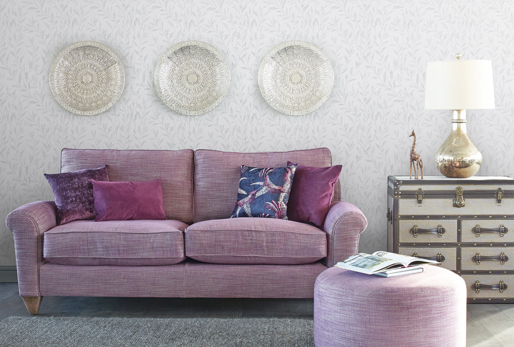 Chloe Purple Sofa