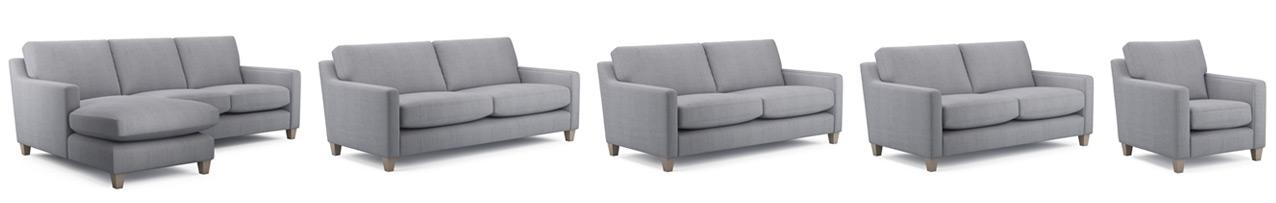 Zoe Modern Sofa Sizes