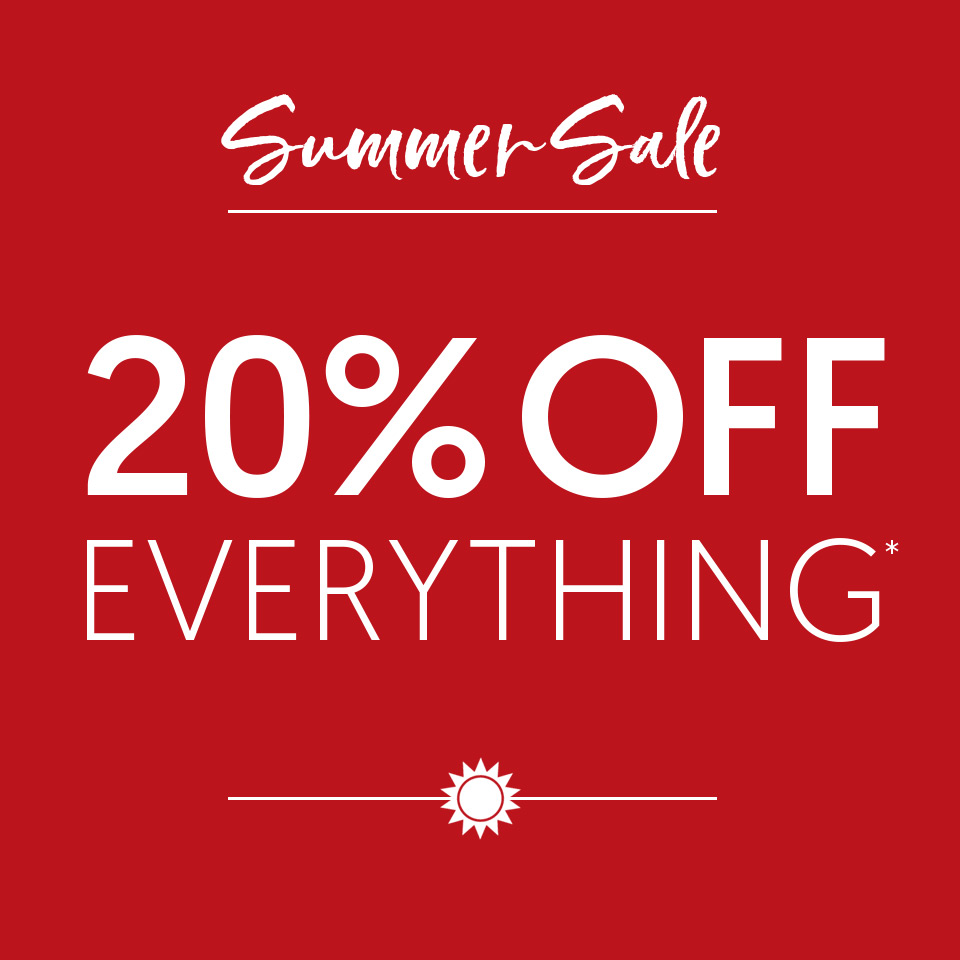 20% off everything*