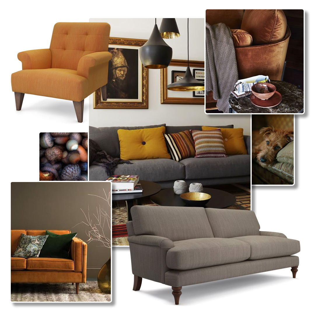 Autumn Inspired Sofas on Pinterest