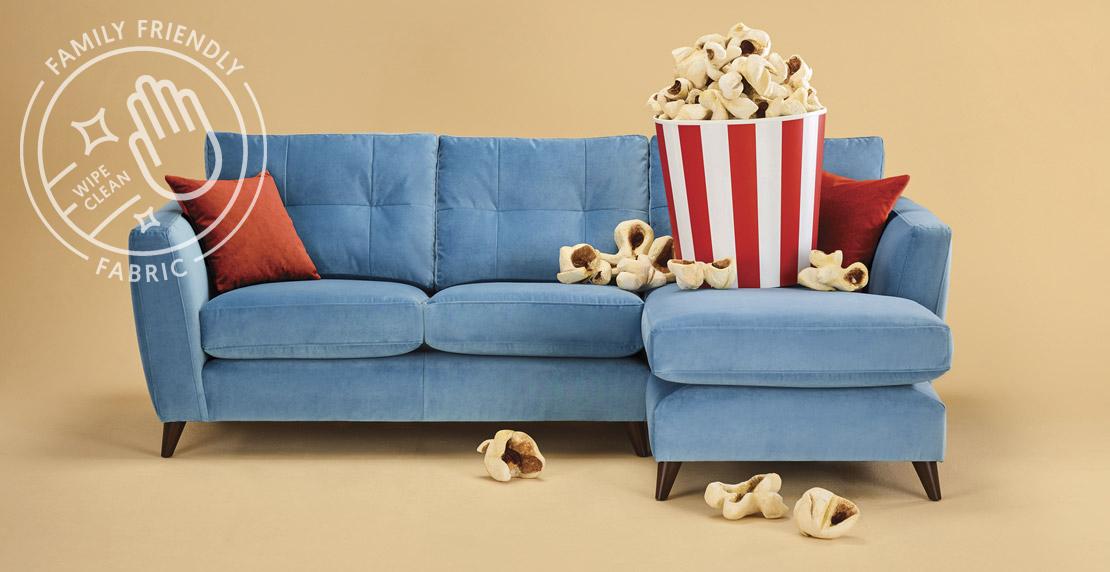 Family Friendly Velvet Sofa