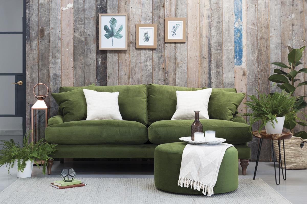 Green Velvet Sofa