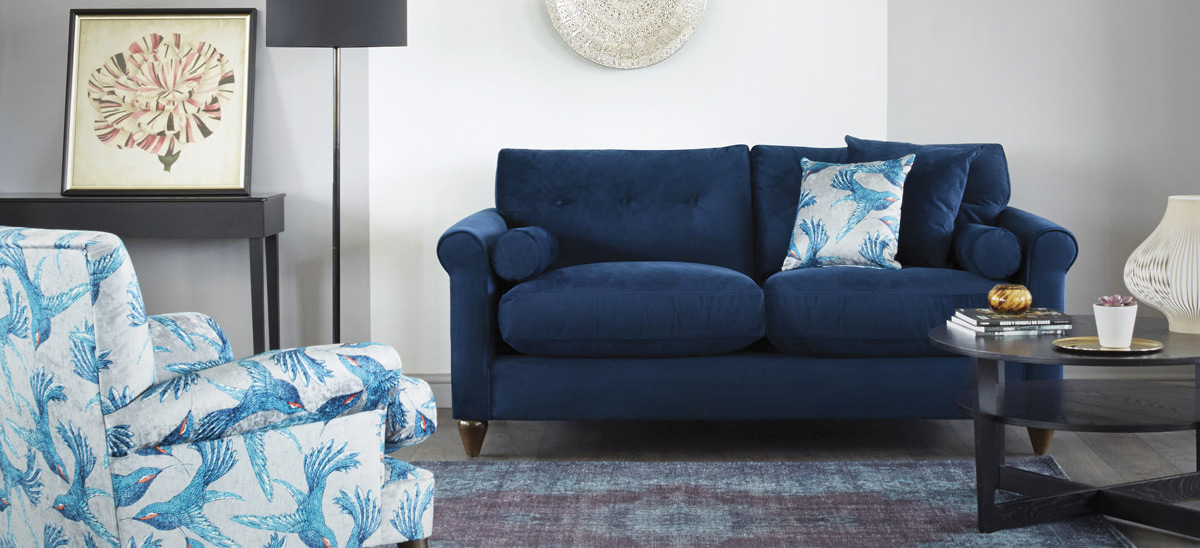 Phoebe Navy Blue Sofa