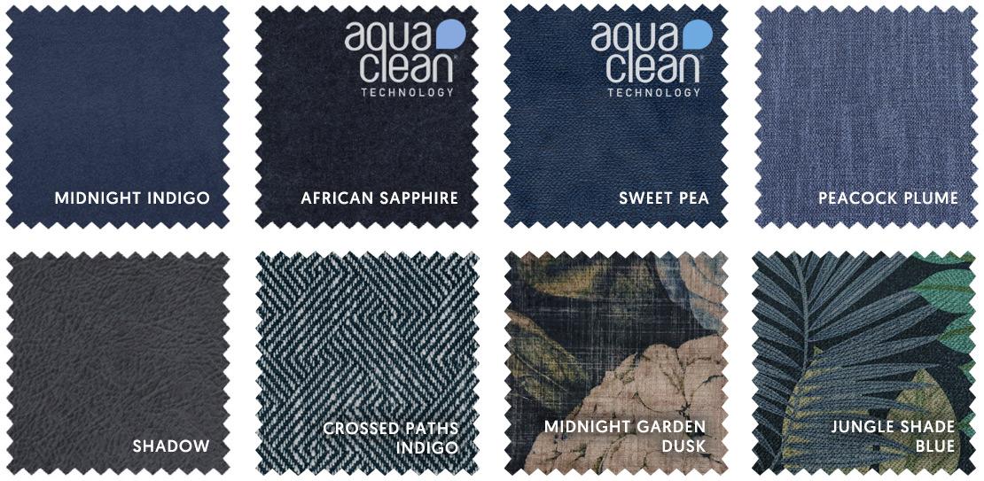 Dark Blue Fabric Swatches