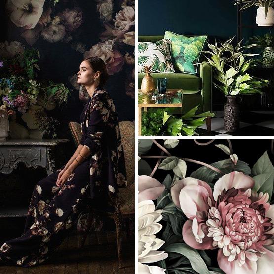 Dark Florals Trend