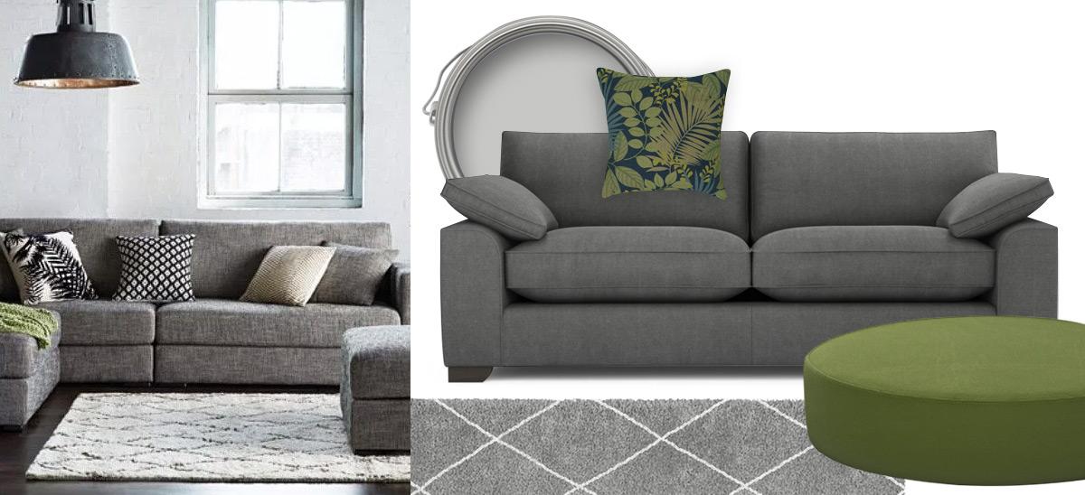 Mid Grey Sofa