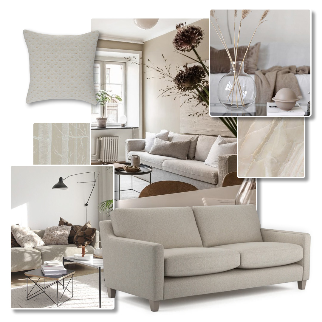 Decorating using neutral tones