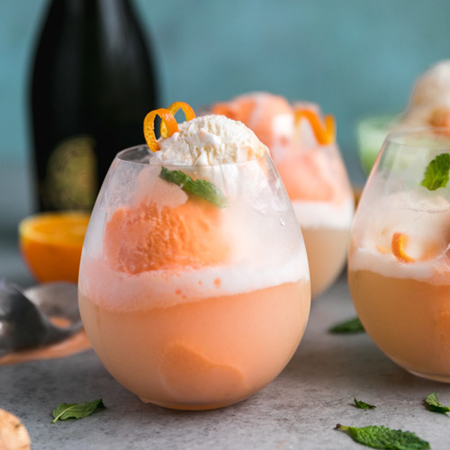 Prosecco Sorbet Cocktail