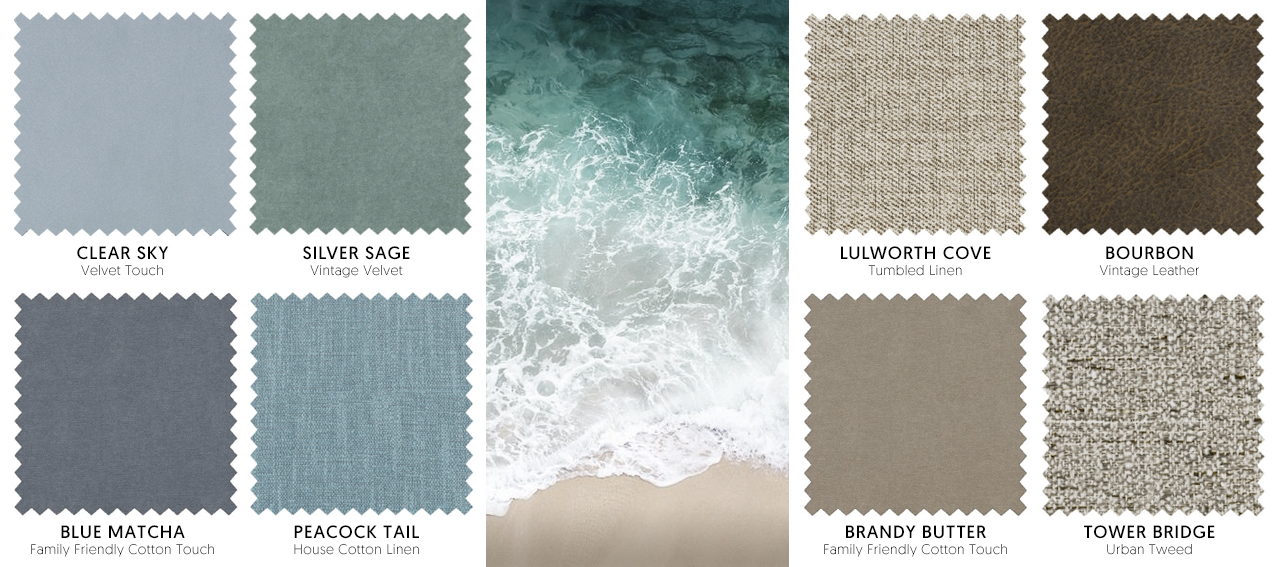 Coastal Inspired Fabric Swatches