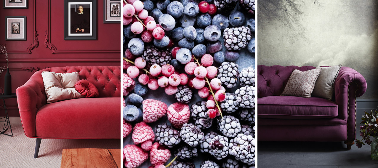 Berry Coloured Sofas