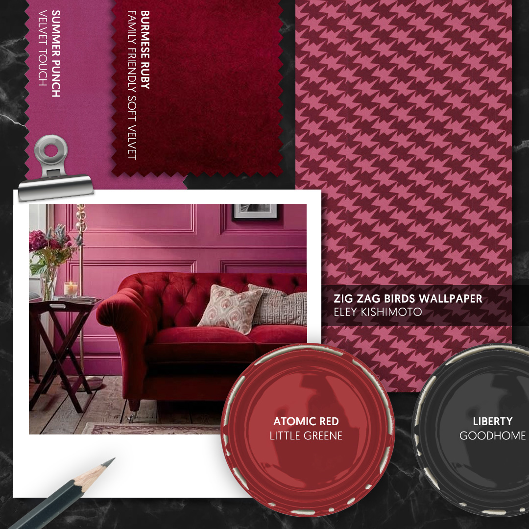 Berry Tones Interior Inspiration