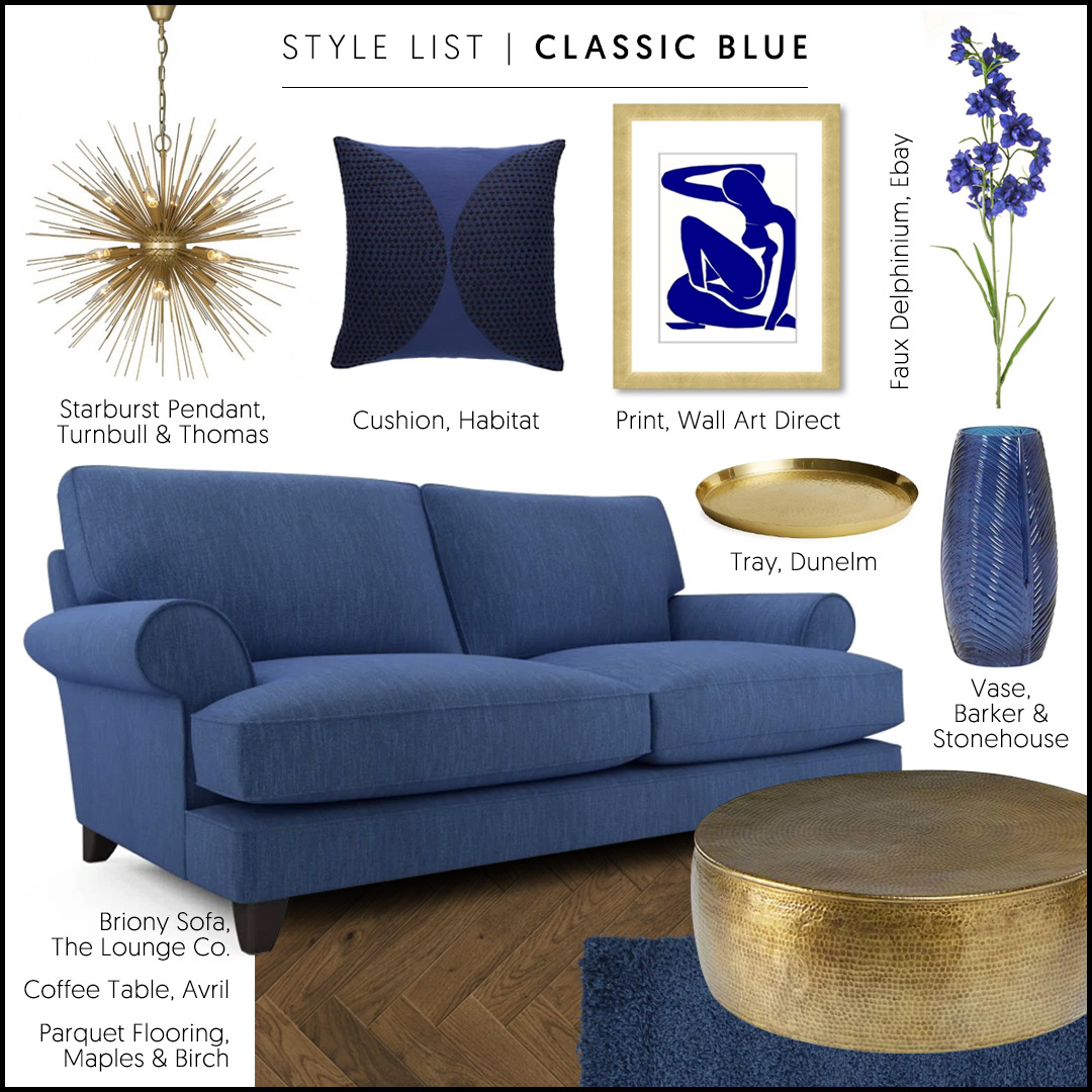 Classic Blue and Brass