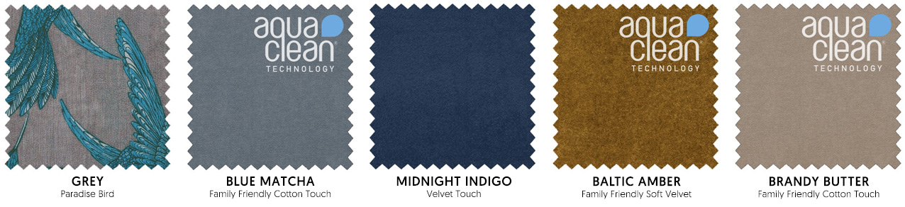 The Chinoiserie Fusion colour palette includes blues, greys, ambers and neutrals