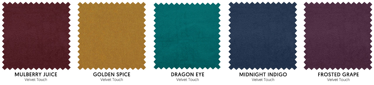 The Jewel Tones colour palette includes deep reds, blue, purples, greens and yellows