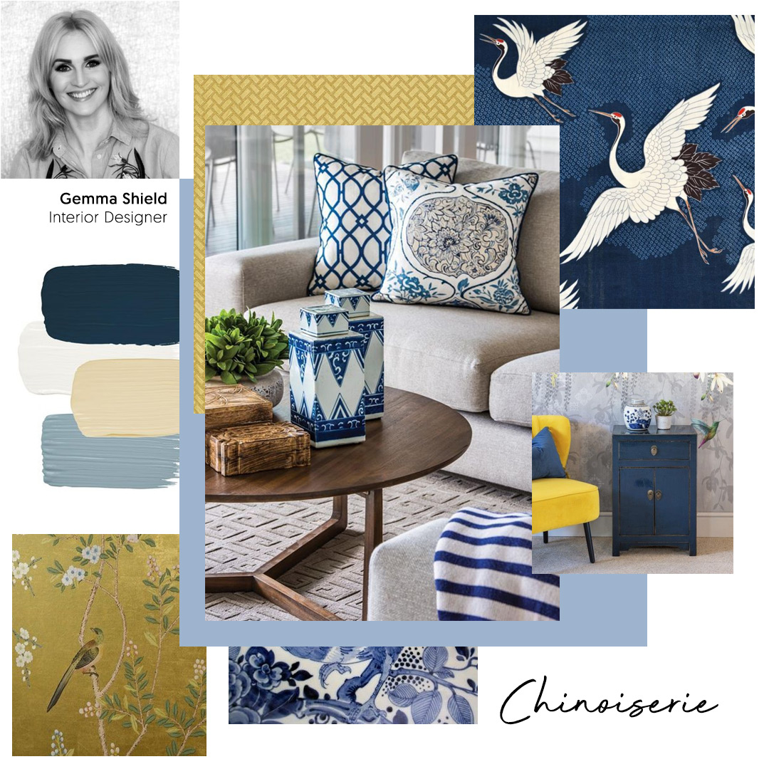 Gemma Shield, Interior Designer, chooses 'Chinoiserie Fusion' as one of her key trends for 2020