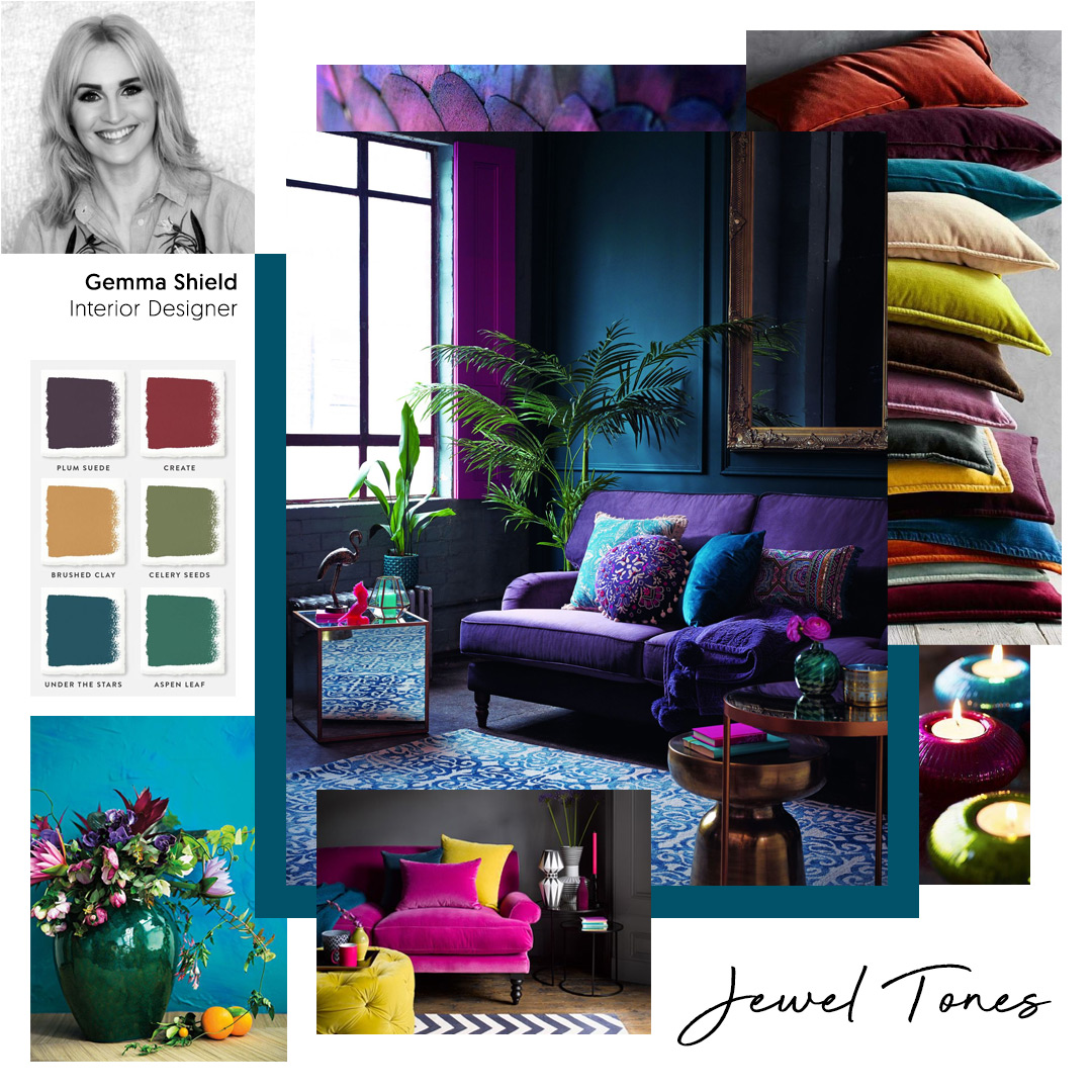 Gemma Shield, Interior Designer, chooses 'Jewel Tones' as one of her key trends for 2020