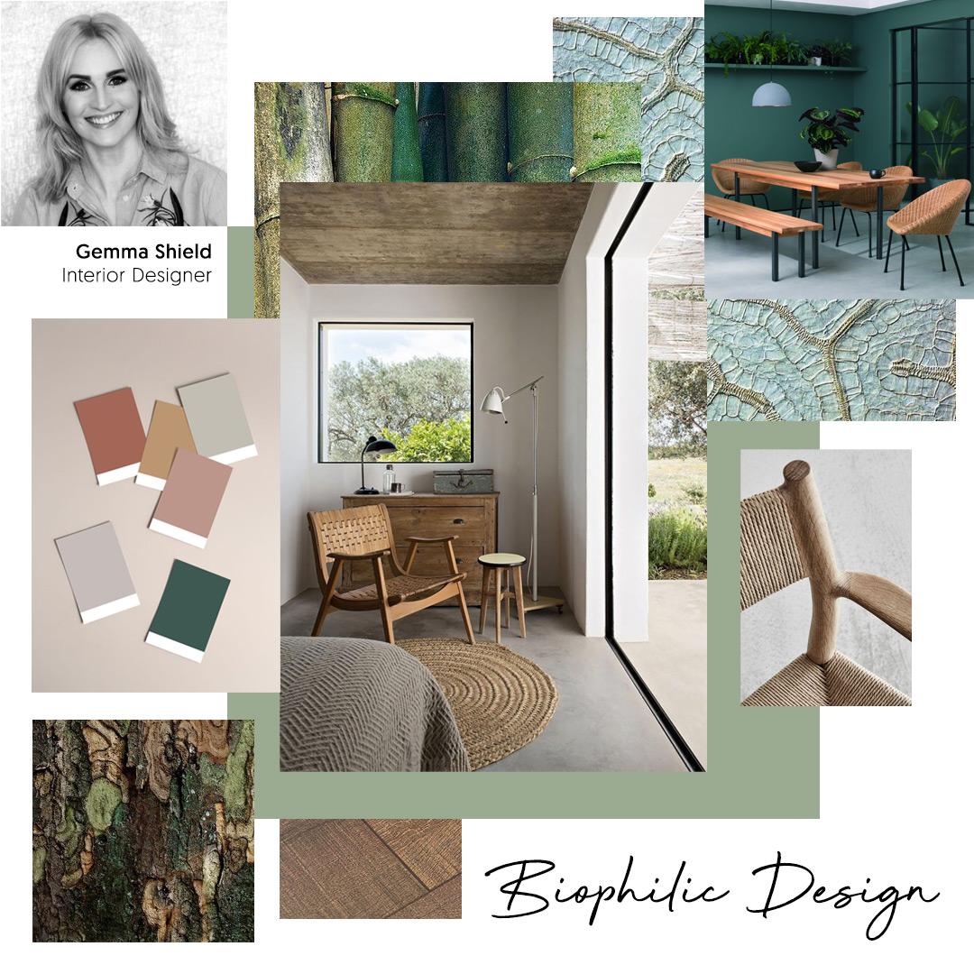 Gemma Shield, Interior Designer, chooses 'Biophilic Design' as one of her key trends for 2020