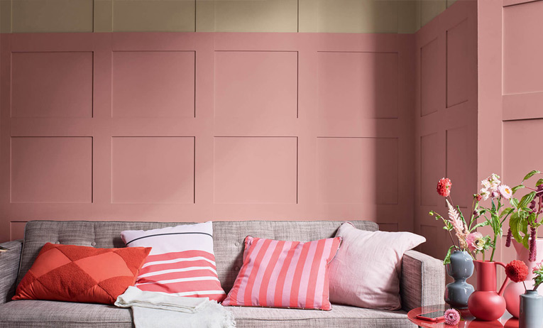 Neutrals and Pink Interior Design