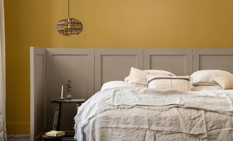 Neutrals and Yellow Interior Design