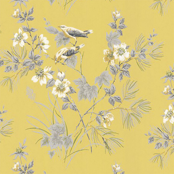 A stunning yellow and grey wallpaper - 'Chartreuse' by Rosemore
