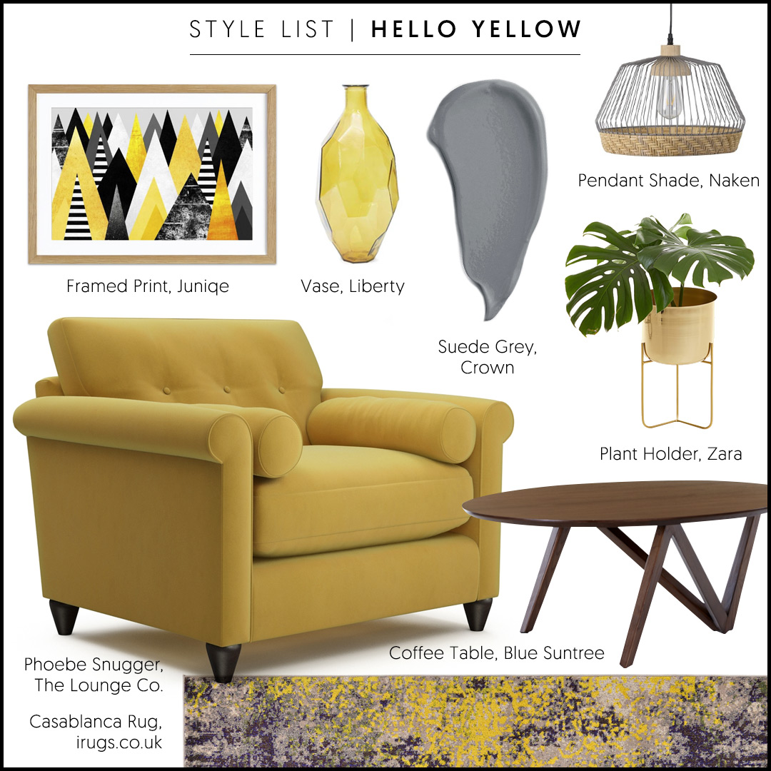 Phoebe Snuggler in Velvet Touch - Buttercup Meadow (A stunning yellow sofa)