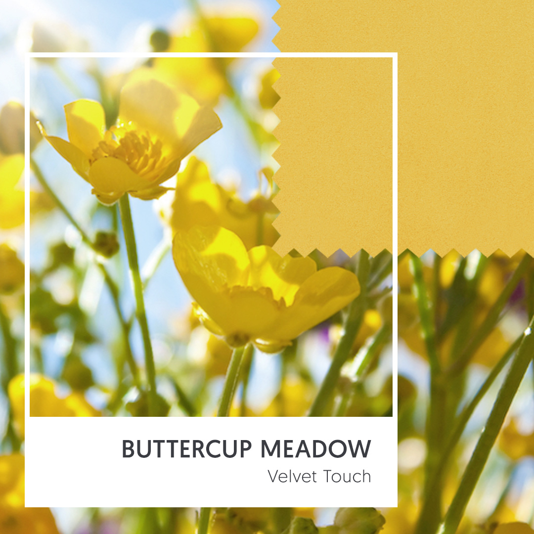 Velvet Touch - Buttercup Meadow (Illuminating Yellow Upholstery Fabric)