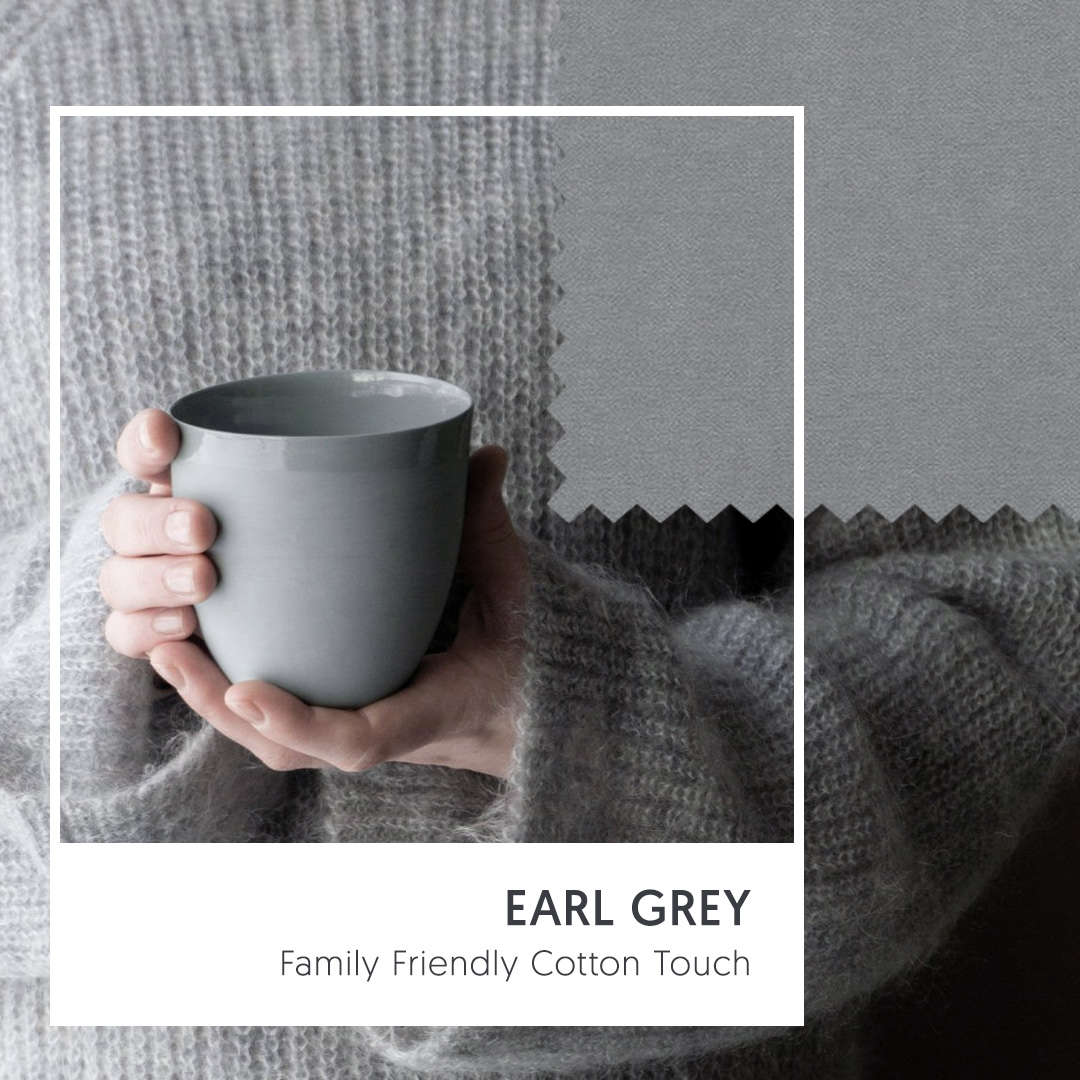 Family Friendly Cotton Touch - Earl Grey (Ultimate Gray Upholstery Fabric)