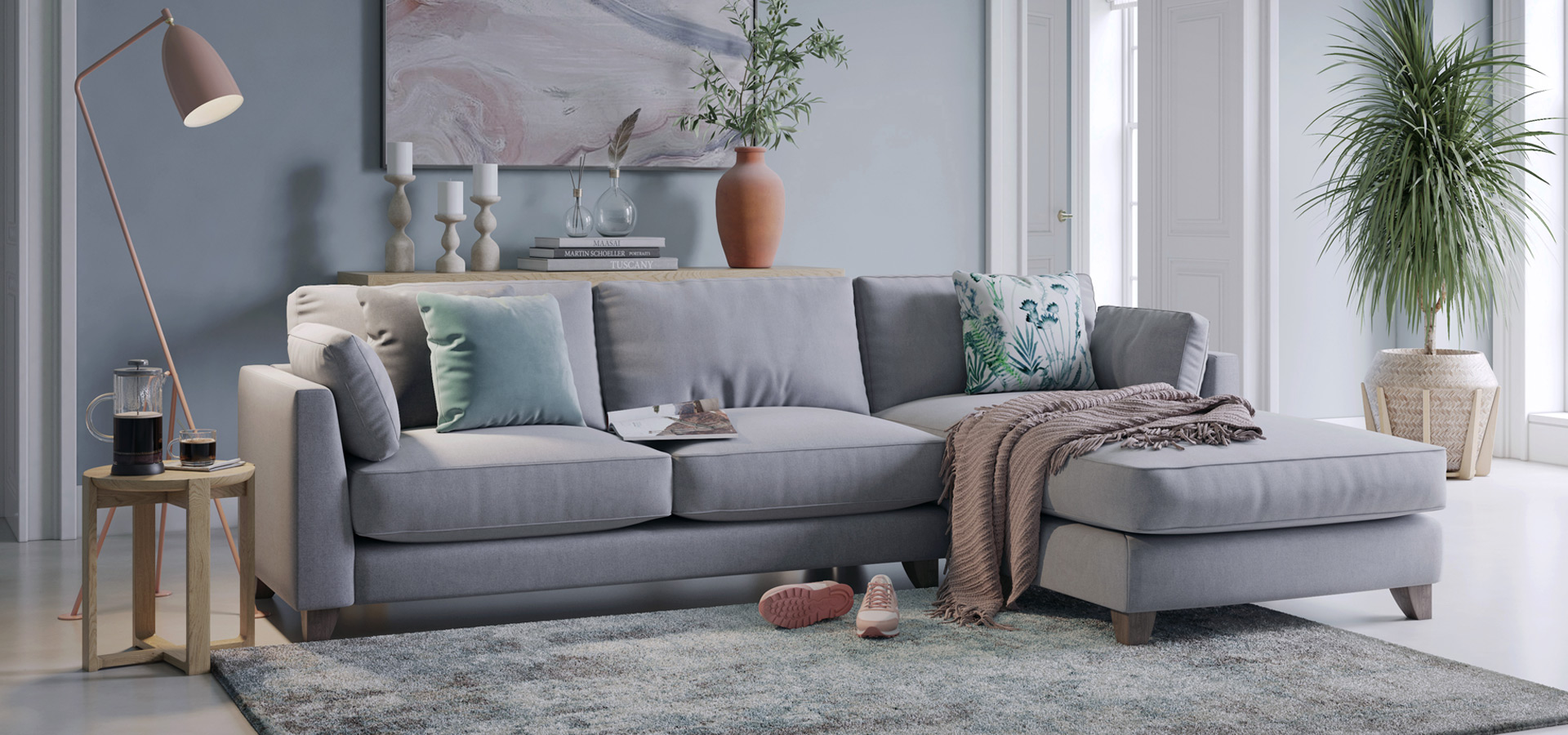 Paloma Chaise End Sofa