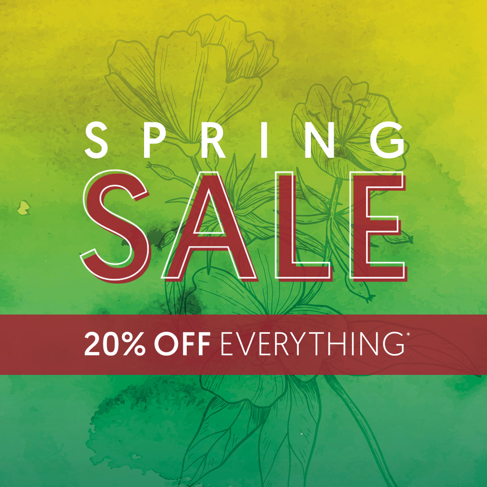 Spring Sale - 20% OFF Everything*