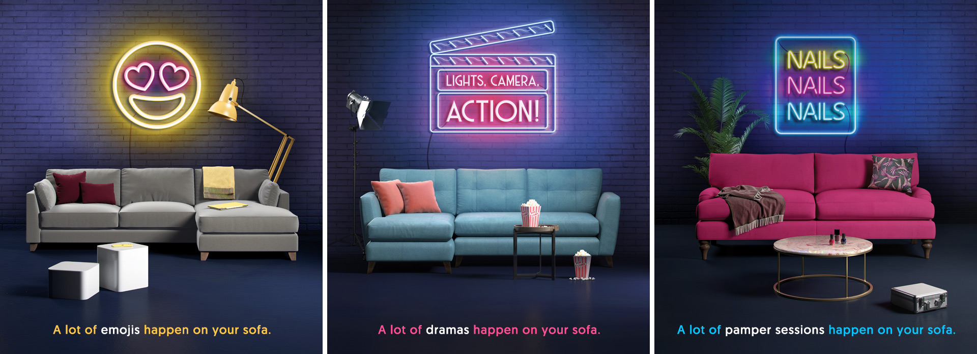 A lot of life happens on your sofa