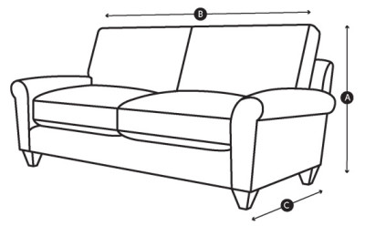 Awesome You Can Find The Height, Width And Depth And Seat Height For Each Sofa On  The Relevant Product Page. Take A Note Of The Height (A), Width (B) And  Depth (C).