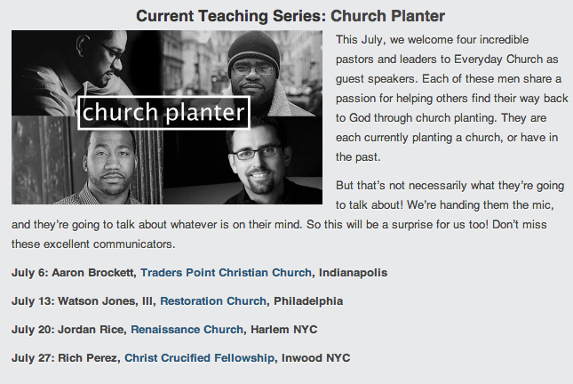 Church Planters Series