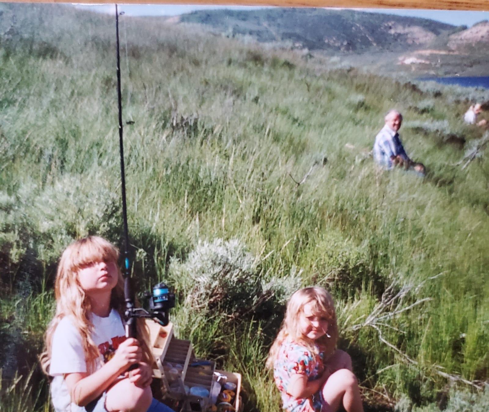Fishing at Strawberry with chauny and grandpa Wagstaff