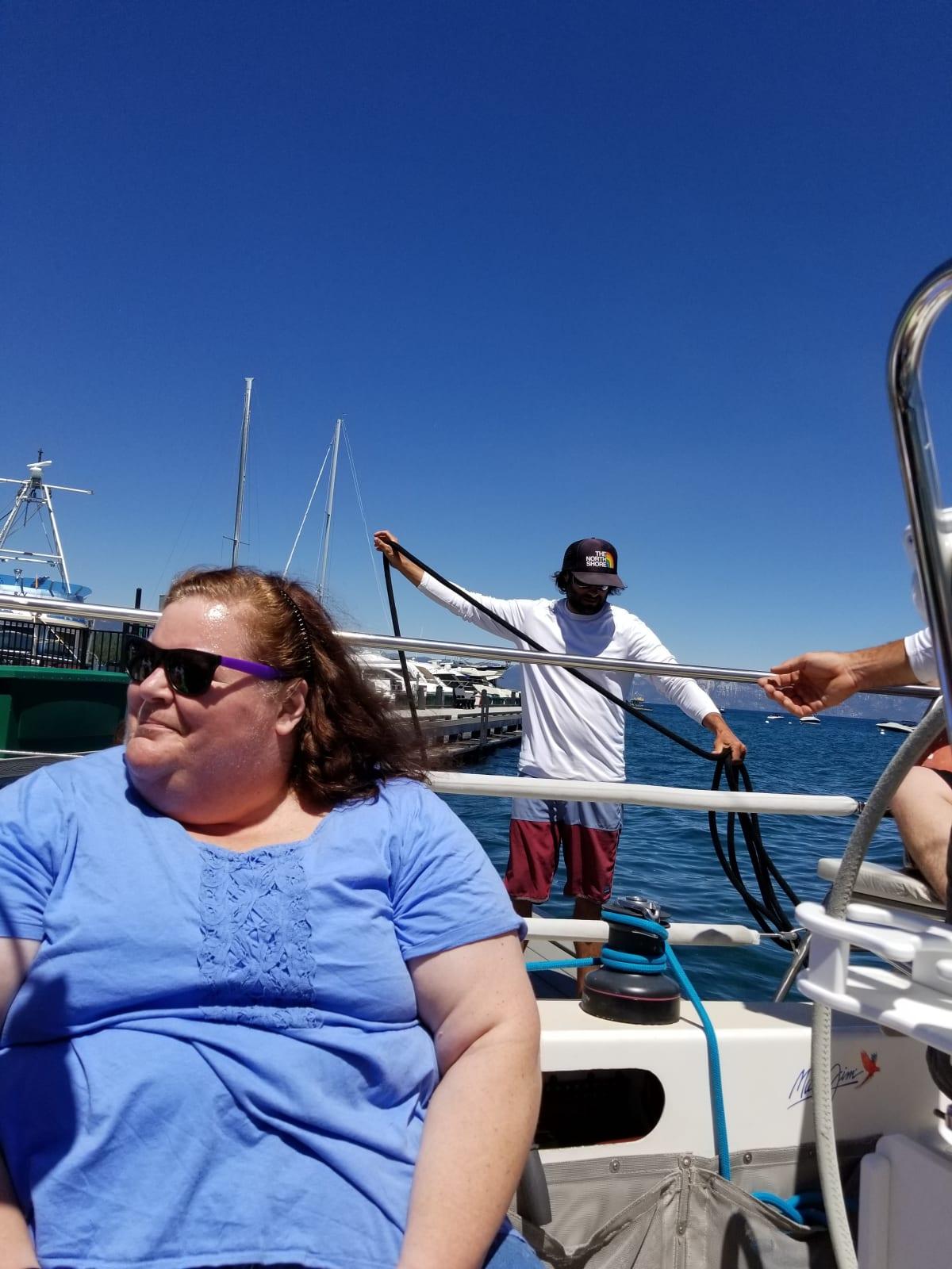 Kathy sailing