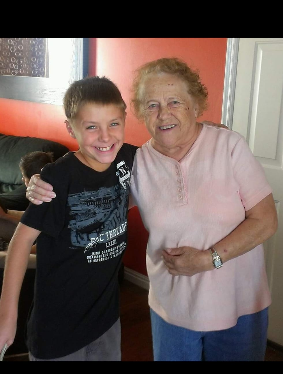 Xander and oma on tenth bday